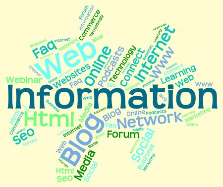 inform information: Information Word Showing Assistance Words And Answers