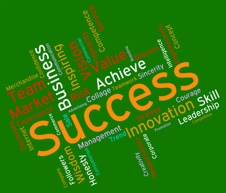 triumphant: Success Words Indicating Winning Victor And Successful