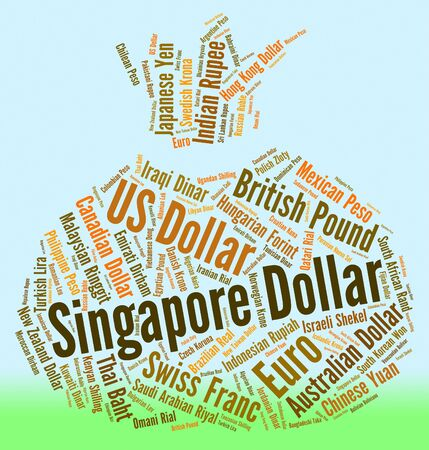 foreign currency: Singapore Dollar Representing Foreign Currency And Banknotes