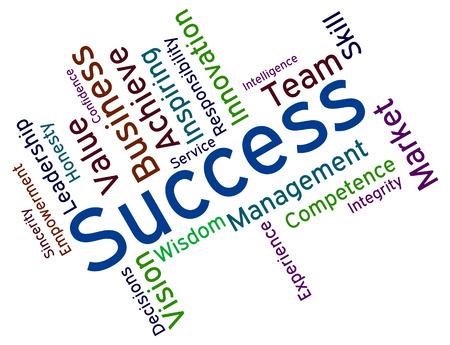 triumphant: Success Words Representing Winning Triumph And Triumphant