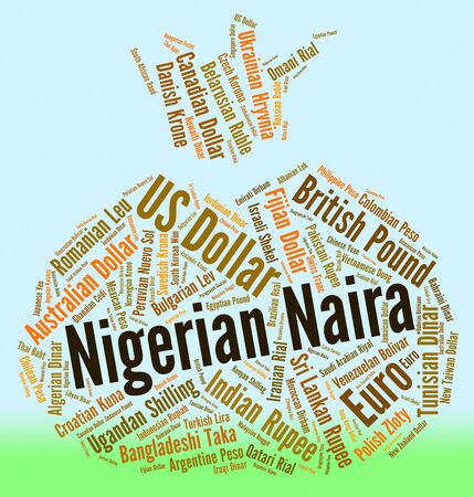coinage: Nigerian Naira Representing Exchange Rate And Coinage