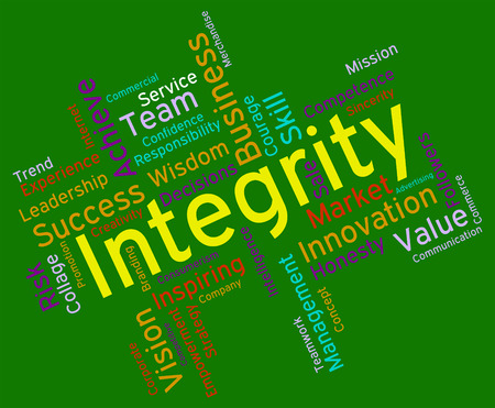 by virtue: Integrity Words Indicating Morality Truthfulness And Sincerity