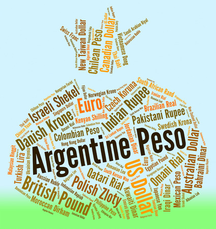 peso: Argentine Peso Representing Foreign Currency And Coin Stock Photo