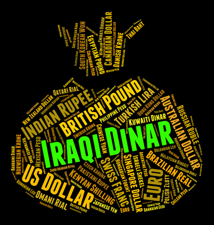 foreign currency: Iraqi Dinar Meaning Foreign Currency And Wordcloud