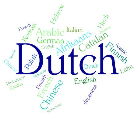 lingo: Dutch Language Indicating Text Foreign And Translator
