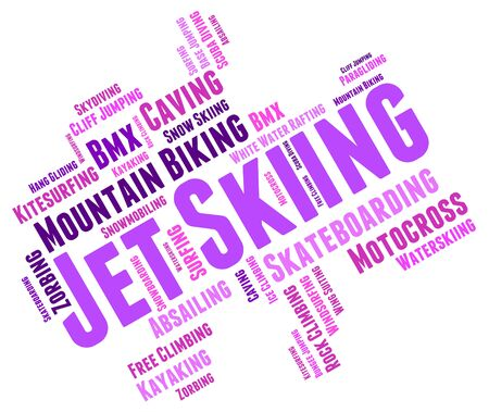 jetski: Jet Skiing Showing Personal Water Craft And Personal Watercraft