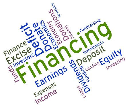 earnings: Financing Word Representing Trading Earnings And Business