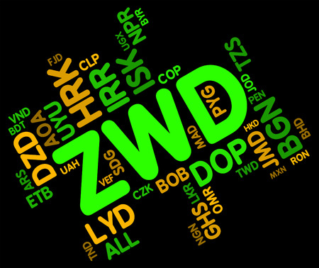 foreign exchange: Zwd Currency Indicating Foreign Exchange And Market