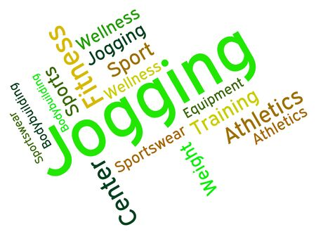 health   fitness: Jogging Word Meaning Health Fitness And Workout Stock Photo