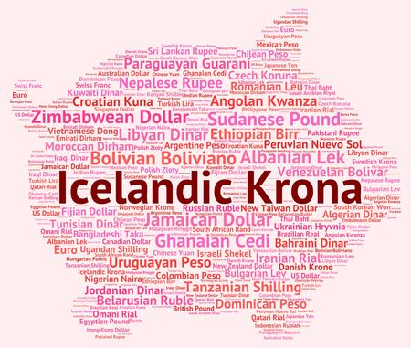 foreign currency: Icelandic Krona Showing Foreign Currency And Currencies