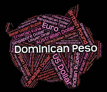 pesos: Dominican Peso Showing Worldwide Trading And Pesos Stock Photo