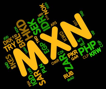 coinage: Mxn Currency Representing Foreign Exchange And Coinage