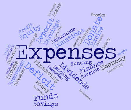 outgoings: Expenses Word Indicating Outlays Finances And Words