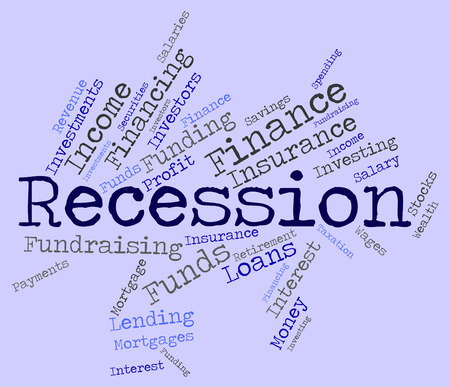 Recession Word Indicating Economic Crisis And Failure