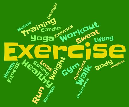 aktywność fizyczna: Słowa ćwiczenia Reprezentowanie aktywności fizycznej i tekst