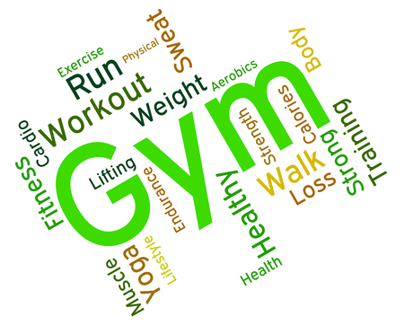 get a workout: Fitness Gym Representing Working Out And Gymnasium Stock Photo
