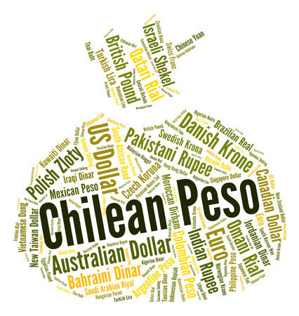 pesos: Chilean Peso Indicating Currency Exchange And Pesos