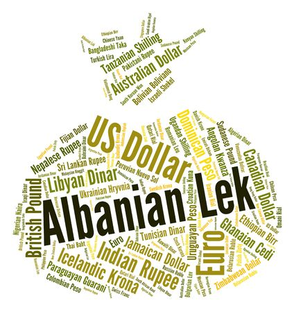 fx: Albanian Lek Representing Currency Exchange And Fx Stock Photo
