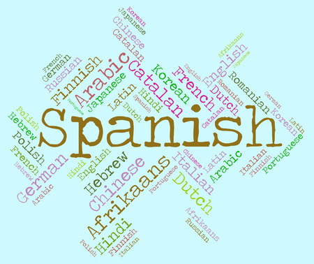 spanish language: Spanish Language Showing Vocabulary Word And Lingo