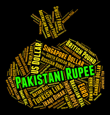rupee: Pakistani Rupee Showing Currency Exchange And Rupees