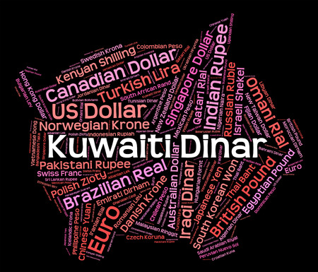 forex trading: Kuwaiti Dinar Representing Forex Trading And Kwd Stock Photo