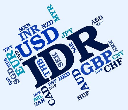 exchange rate: Idr Currency Representing Exchange Rate And Rupiah Stock Photo
