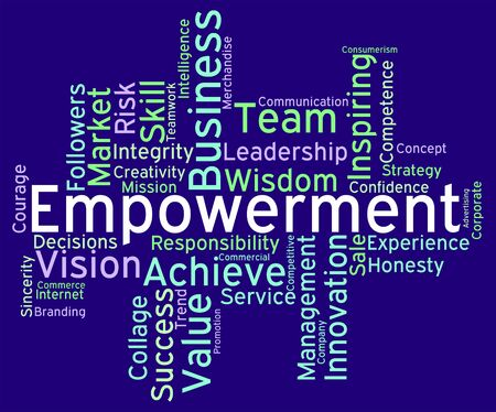 encouraged: Empowerment Words Representing Boost Inspiration And Wordcloud