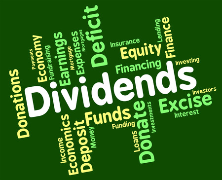 yields: Dividends Word Meaning Stock Market And Text Stock Photo
