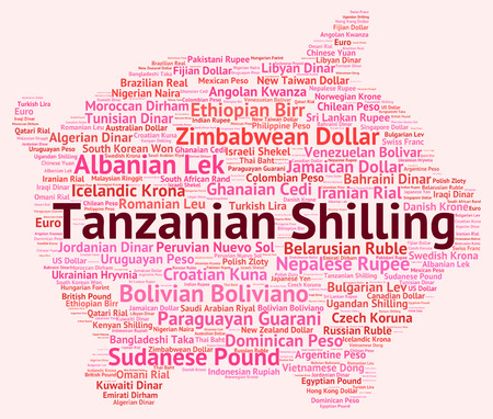 shilling: Tanzanian Shilling Representing Currency Exchange And Word