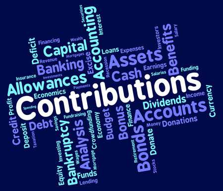 contributions: Contributions Word Showing Wordcloud Donate And Volunteers