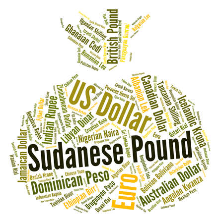 coinage: Sudanese Pound Representing Currency Exchange And Coinage Stock Photo