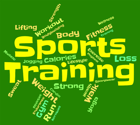 get a workout: Sports Training Representing Getting Fit And Workout Stock Photo