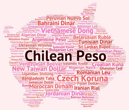 peso: Chilean Peso Showing Worldwide Trading And Banknotes Stock Photo