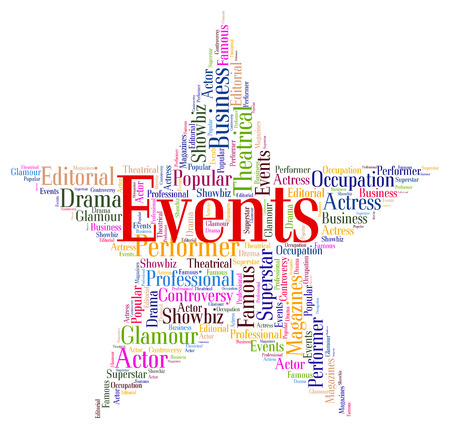 affairs: Events Star Meaning Affairs Function And Words Stock Photo
