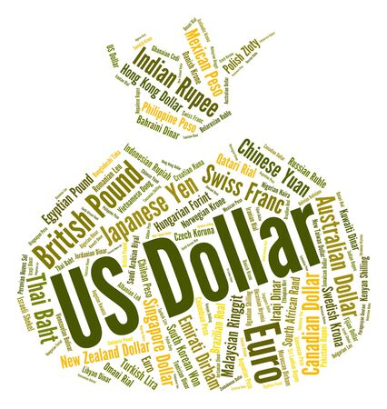 us dollar: Us Dollar Indicating Worldwide Trading And Broker Stock Photo