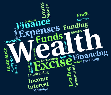 affluence: Wealth Word Indicating Worth Wealthy And Words