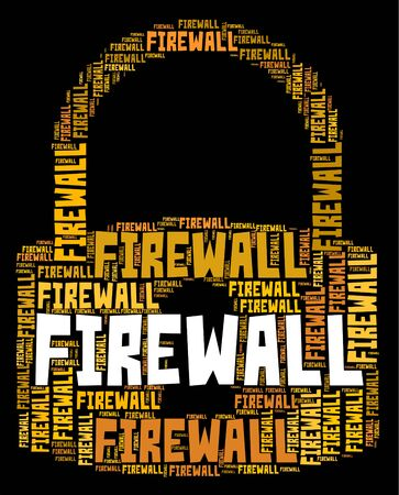 no access: Firewall Lock Representing No Access And Isolated Stock Photo
