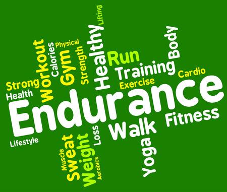 aktywność fizyczna: Endurance Słowo Reprezentowanie aktywności fizycznej i Athletic