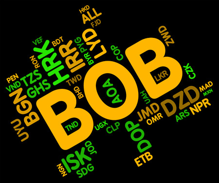 bolivian: Bob Currency Representing Worldwide Trading And Bolivian