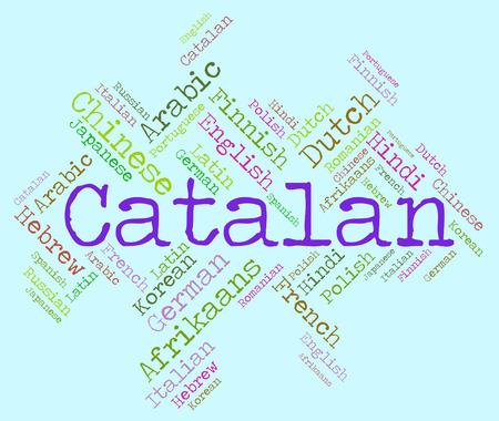 dialect: Catalan Language Representing Vocabulary International And Word