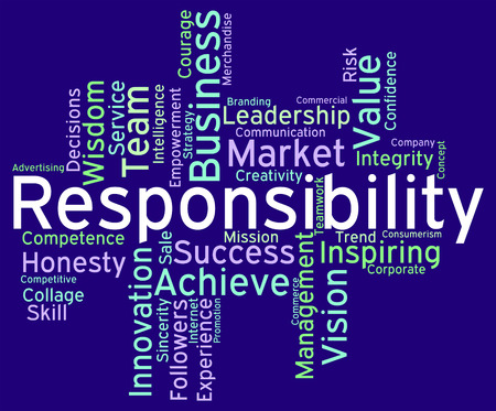 Responsibility Words Representing Text Accountabilities And Accountable Stock Photo