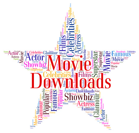 downloaded: Movie Downloads Representing Movies And Shows Stock Photo