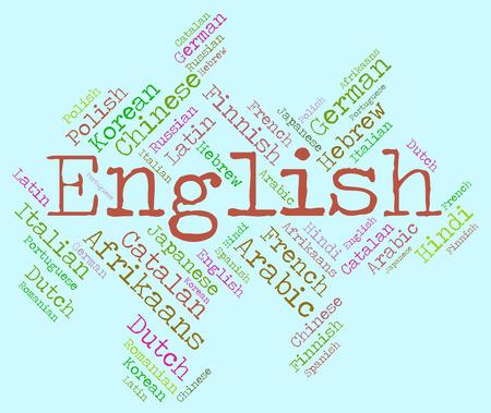 english language: English Language Meaning Britain Speech And Translator Stock Photo