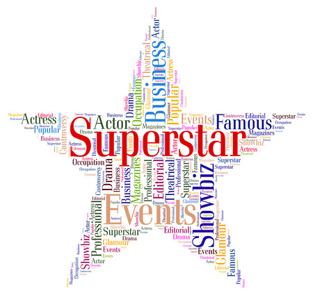 Superstar Word Representing Personality Luminaries And Words Stock Photo