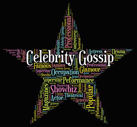 chismes: Chismes de celebridades Significado de Chat Y Chatter Foto de archivo