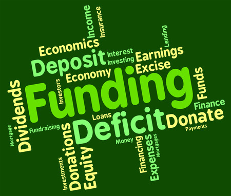 funds: Funding Word Representing Funds Text And Finances Stock Photo