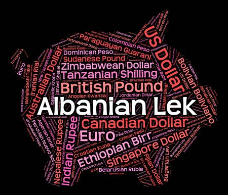 currency exchange: Albanian Lek Showing Currency Exchange And Foreign