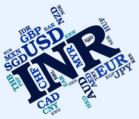 exchange rate: Inr Currency Showing Exchange Rate And Words