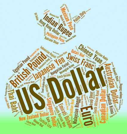 us dollar: Us Dollar Indicating Foreign Exchange And Words