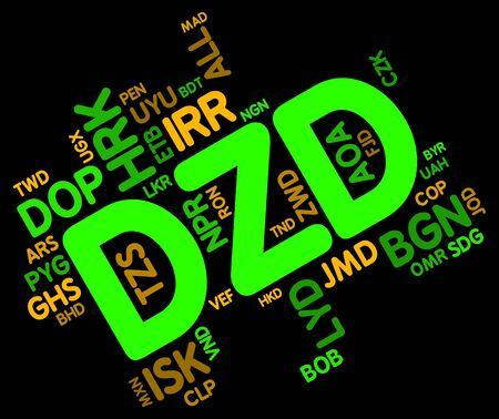 Algierski: DZD Dinar algierski Waluta Pokazuje i rynek